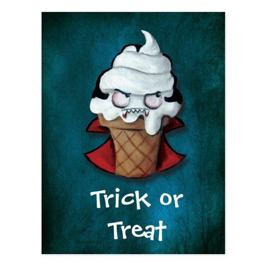 Sweet Cute Vampire Ice Cream Postcard