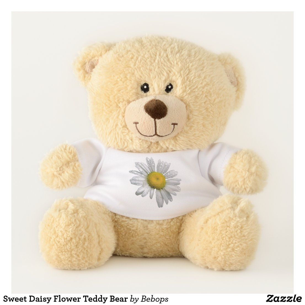 Sweet Daisy Flower Teddy Bear