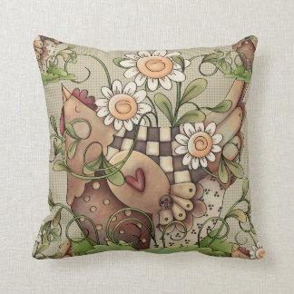 Sweet Daisy Hen Pillows