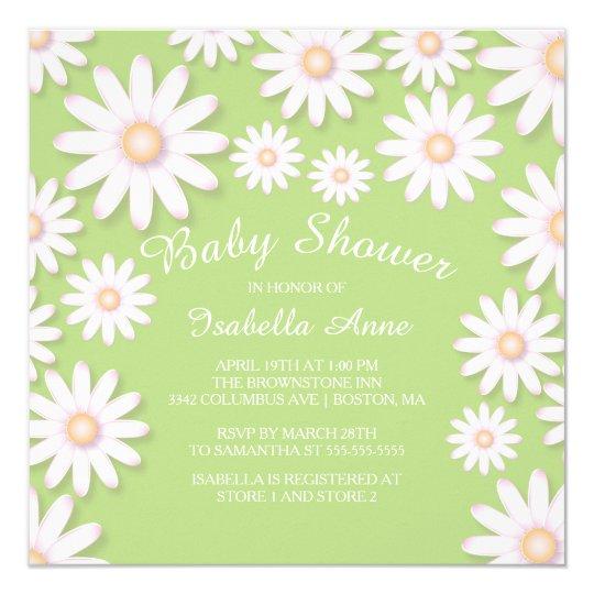 Sweet Daisy Neutral Baby Shower Invitation
