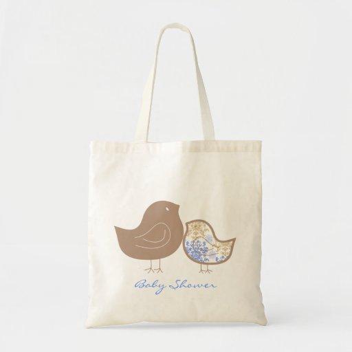 Sweet Damask Chicks 2 Baby Shower Custom Tote Bag