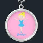 """Sweet Dancing Ballerina Necklace<br><div class=""""desc"""">Customizable ballerina necklace. Personalize it with a name for a great gift.</div>"""
