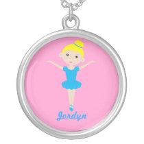 Sweet Dancing Ballerina Necklace