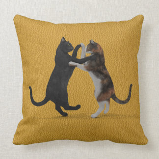 Sweet Dancing Cats Throw Pillows