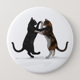 Sweet Dancing Cats Pinback Button