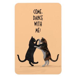 Sweet Dancing Cats Rectangular Magnet