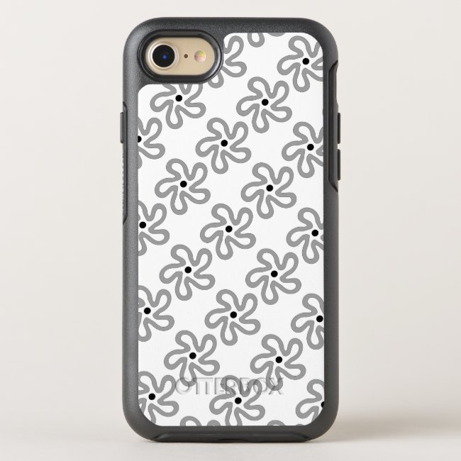 Sweet Dancing Gray Flower OtterBox iPhone 8/7 Case