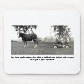 Sweet days of Summer Pony and Wagon Mouse Pad