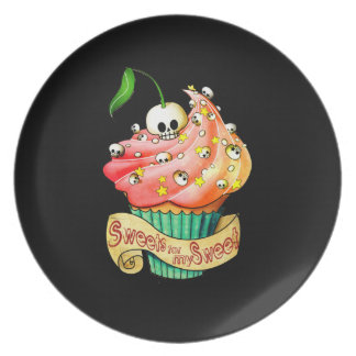 Sweet & Deadly Cupcake Party Plate