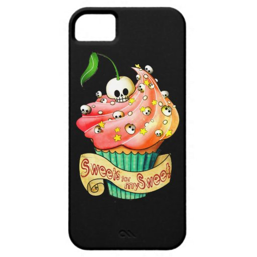 Sweet & Deadly  Skull Cupcake iPhone 5 Cover