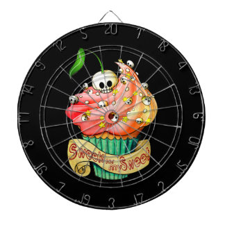 Sweet & Deadly  Skull Cupcake Dartboard With Darts
