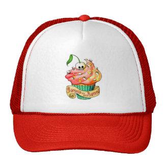 Sweet & Deadly  Skull Cupcake Mesh Hats