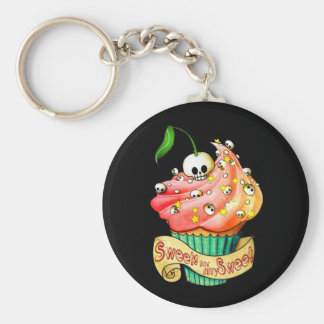 Sweet & Deadly  Skull Cupcake Key Chains