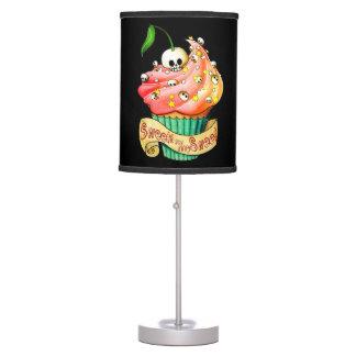 Sweet & Deadly  Skull Cupcake Table Lamp