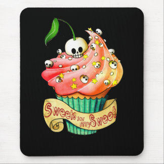 Sweet & Deadly  Skull Cupcake Mouse Pad