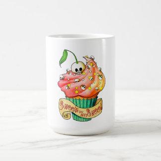 Sweet & Deadly  Skull Cupcake Classic White Coffee Mug