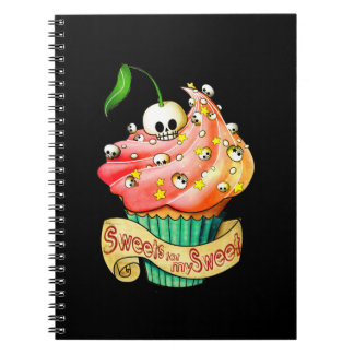 Sweet & Deadly  Skull Cupcake Note Books
