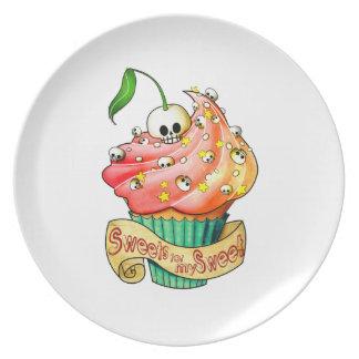 Sweet & Deadly  Skull Cupcake Plate