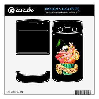 Sweet Deadly Skull Cupcake BlackBerry Bold 9700 Skin