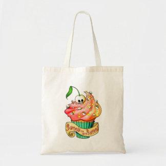 Sweet & Deadly  Skull Cupcake Tote Bag