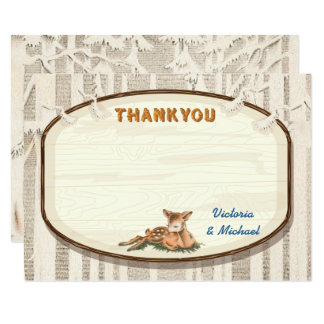 Sweet Deer Thank you note card