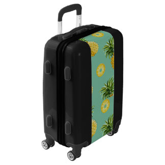 sweet delicious pineapples luggage