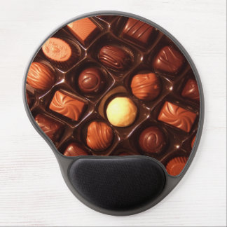 Sweet Delights Chocolate Pattern Gel Mouse Pad