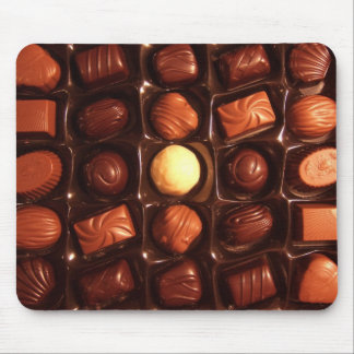Sweet Delights Chocolate Pattern Mouse Pad