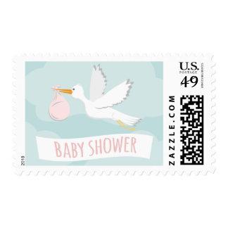 Sweet Delivery Stork Baby Shower Postage Stamp