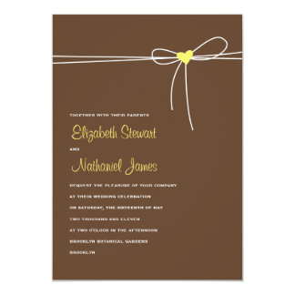 Sweet Delivery Wedding Invitation Brown & Yellow