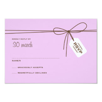 Sweet Delivery Wedding RSVP Brown & Purple Card
