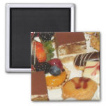 Sweet Desserts 2 Inch Square Magnet