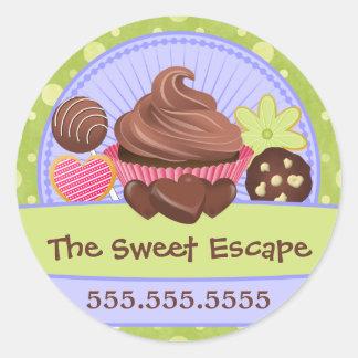 Sweet Desserts Bakery Classic Round Sticker