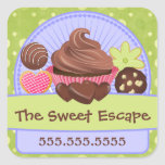 Sweet Desserts Bakery Square Sticker