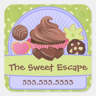 Sweet Desserts Bakery Square Sticker