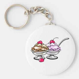 Sweet Desserts! Basic Round Button Keychain