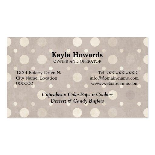 Sweet Desserts Business Cards (back side)