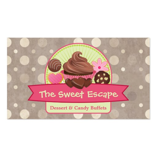 Sweet Desserts Business Cards (front side)