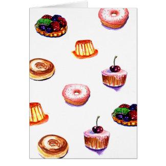 Sweet desserts greeting card