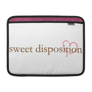sweet disposition MacBook sleeve