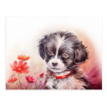 Sweet Dog Art Postcard