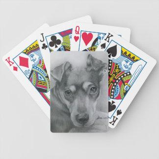 Sweet dog bicycle playing cards