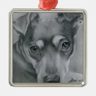 Sweet dog metal ornament