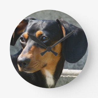 Sweet Dog Pet Round Clock