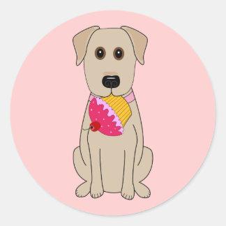 Sweet Dog Pink Classic Round Sticker