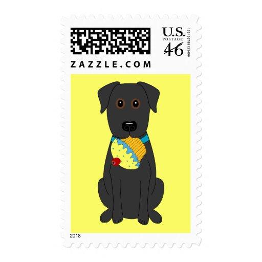Sweet Dog Postage Stamp