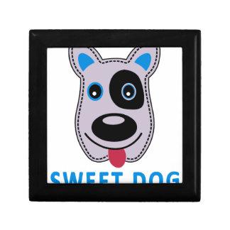sweet dog vintage design keepsake box