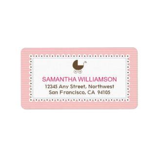 Sweet Doily Return Address Labels (pink)