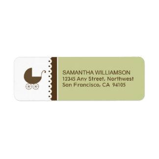 Sweet Doily Return Address Labels (sage)