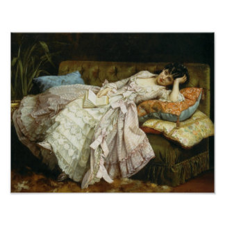 Sweet Doing Nothing by Auguste Toulmouche, 1877 Posters